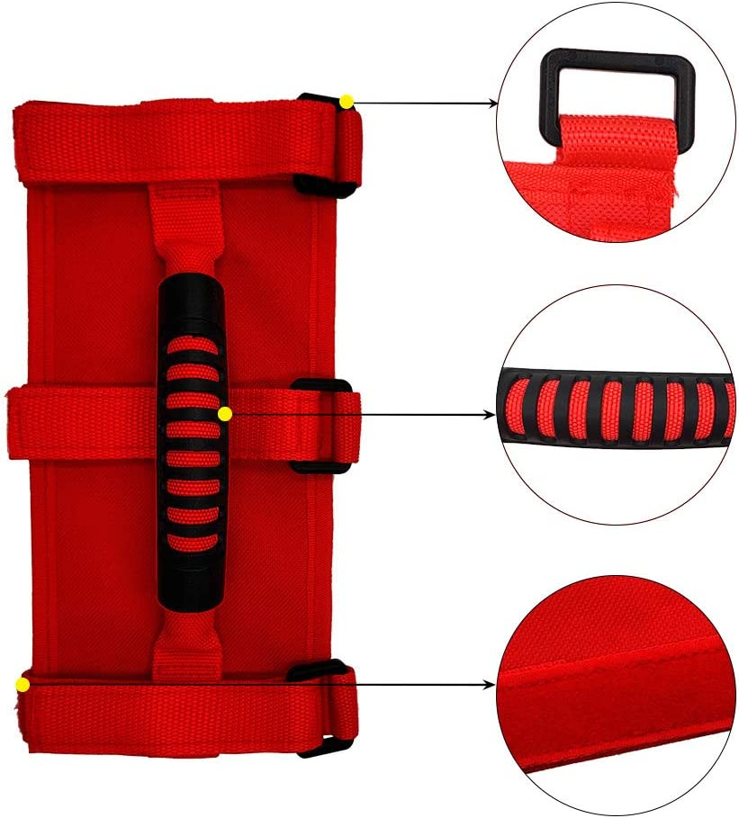 4 Pcs Adjustable Roll Bars Grab Handles Grip Handle for Jeep Wrangler Accessories YJ TJ JK JL JLU Sports Sahara Freedom Rubicon X Unlimited X 2//4 Door 1995-2018