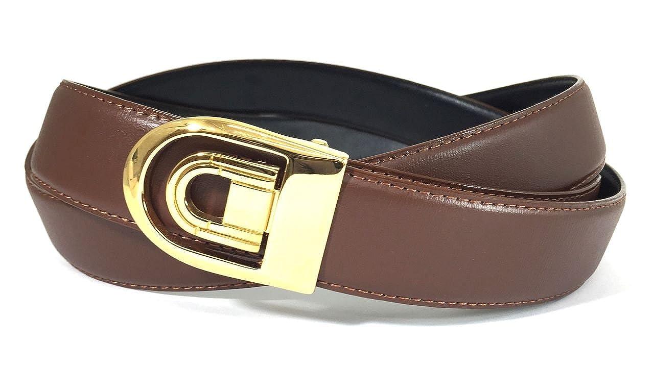 EDNA Bonded Leather Reversible Dress Belt