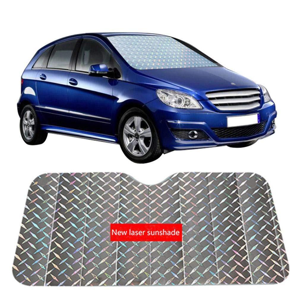 Colore Argento Baiwka per Mantenere Il Vostro Veicolo Fresco Parasole Universale per Parabrezza Auto con Protezione dai Raggi UV 130 * 70cm Grande