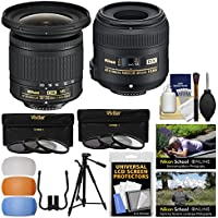Nikon Landscape & Macro Kit with 10-20mm VR AF-P & 40mm f/2.8G DX Micro-Nikkor Lenses with 6 UV/CPL/ND8 Filters + Tripod + Diffusers Kit