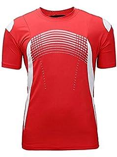 df1f9758f6466d SWISSWELL Herren Sport T-Shirt Kurzarm Trikot aus 100% Polyester  Schnell-Trocken Slim