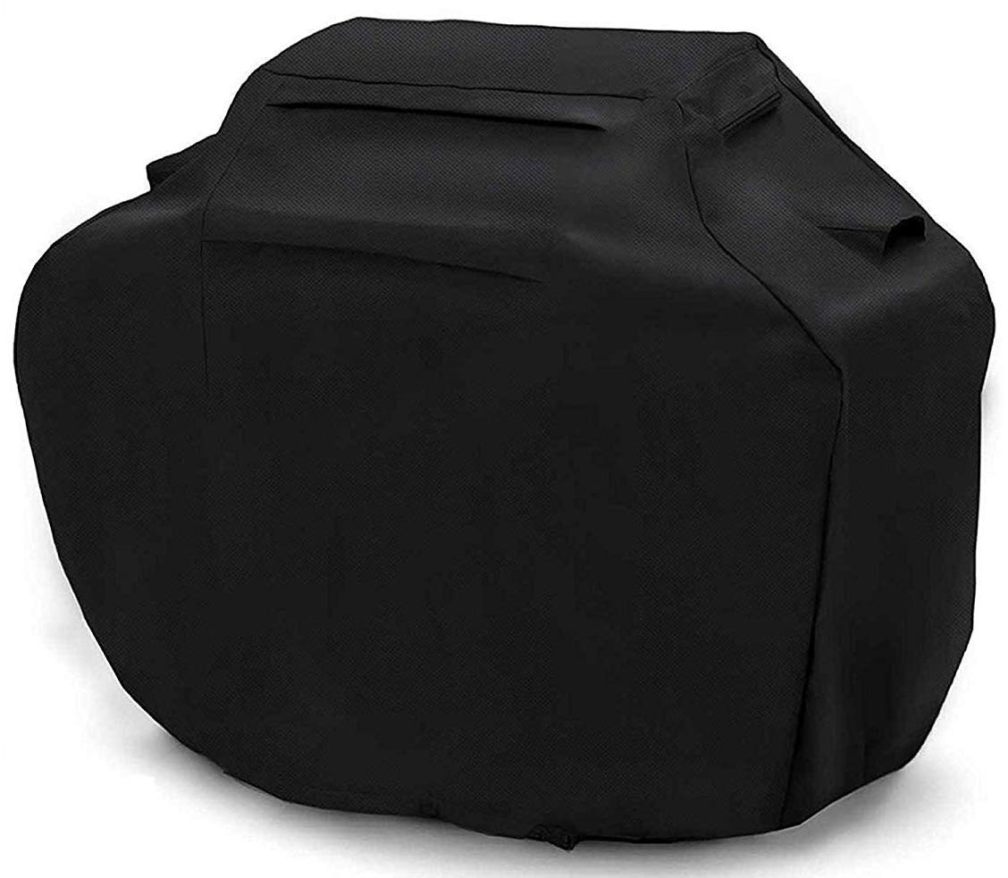 BBQ Cover 58 Inch Grill Cover Waterproof Barbeque Cover Heavy Duty Barbecue Cover Grill Accessories Fabric Windproof BBQ Cover for Grill fits Weber Brinkmann Dyna Glo Char Broil Jenn Air