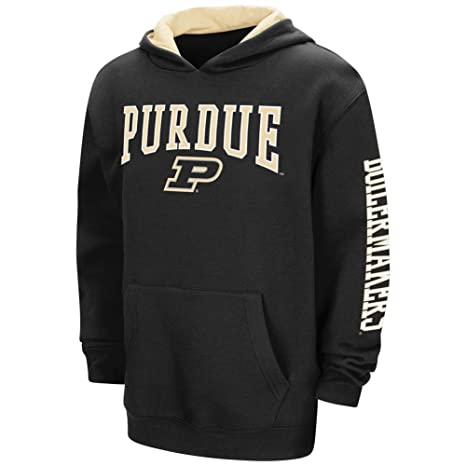 ff2d9b919f9 Amazon.com : Colosseum Purdue Boilermakers NCAA End Zone Pullover Hooded  Youth Sweatshirt - Black : Sports & Outdoors