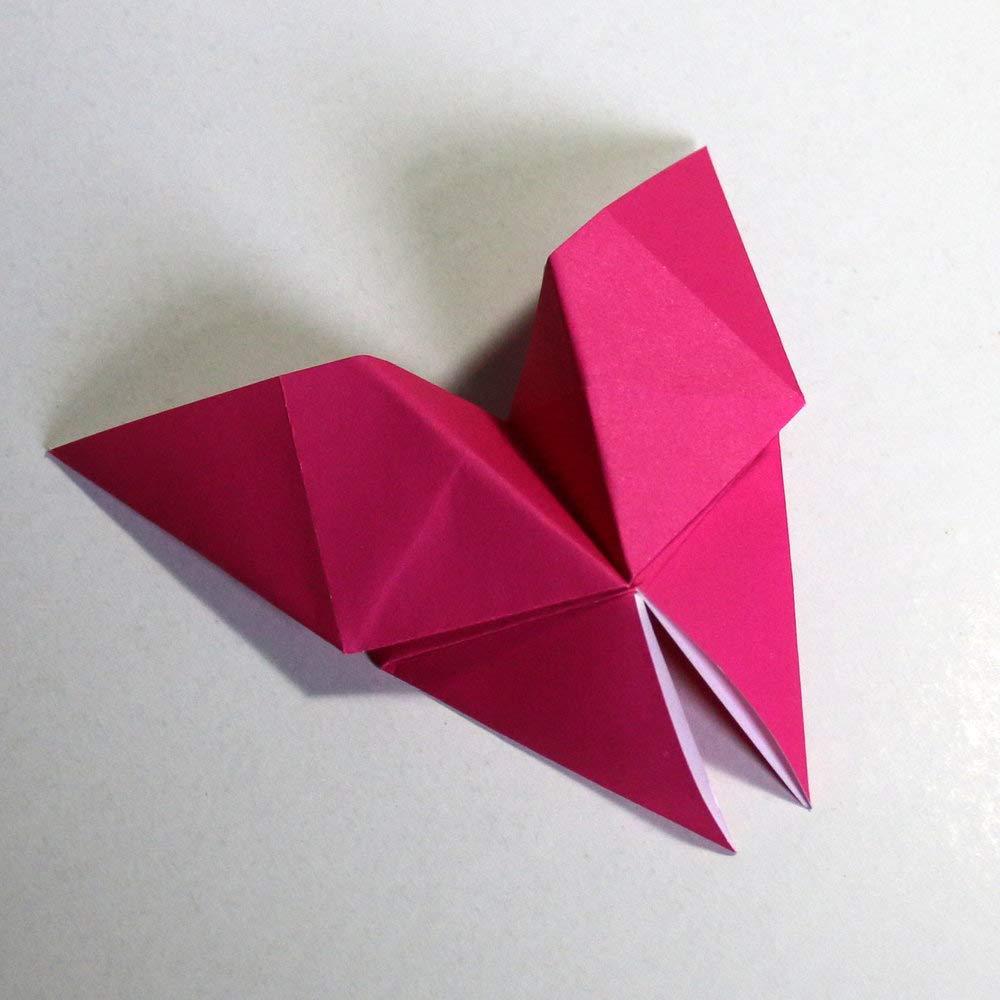 Folded Square Origami - Papel Rosa de origami | 100 Hojas, 15cm Cuadrado | Pantone Rojo Rhodamina: Amazon.es: Oficina y papelería