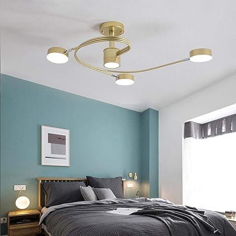 Araña de luces Lámpara de dormitorio moderna simple ...