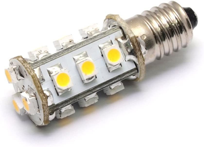 Bombilla LED E27, para rosca edison E10, para corriente alterna y corriente continua, 12 V 24 V, color blanco puro, de 1,8 W
