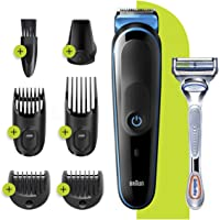 Braun 6-in-1 All-in-one Trimmer 3 MGK3220, Beard Trimmer, Hair Clipper & Face Trimmer, Black,