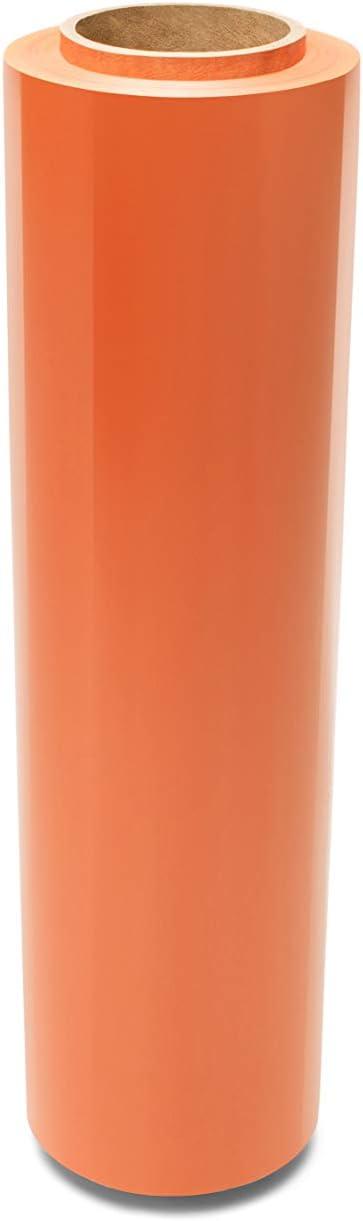 18 Inch x 1500 Feet 80 Gauge 192 Rolls Peach Orange Stretch Wrap Film Plastic Cling Wrap