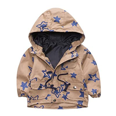 Baby Toddler Boys Hoodie Jacket Kids Zipper Outwear Coat Boys Windbreaker Overcoat