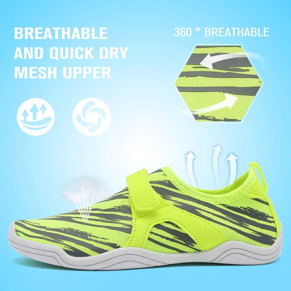 Fantiny Boys /& Girls Water Shoes Lightweight Comfort Sole Easy Walking Athletic Slip on Aqua Sock Toddler//Little Kid//Big Kid