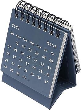2021 Desk Calendar Desktop Standing Flip Monthly Calendar For Home Office Table