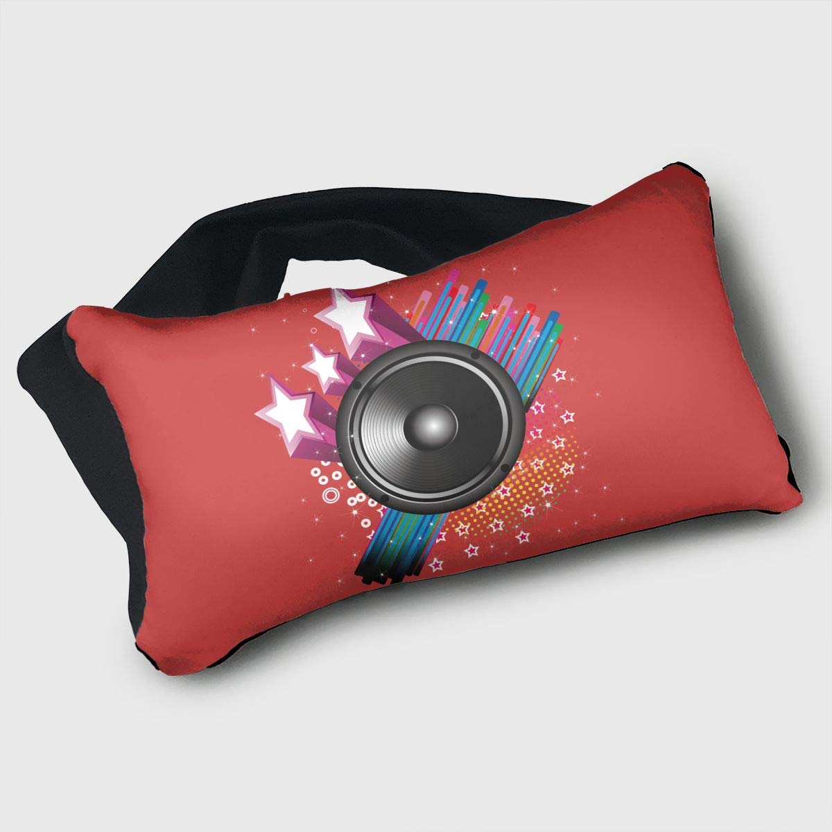Voyage Travel Pillow Eye Mask 2 in 1 Portable Neck Support Scarf Sound Music Guitar Ergonomic Naps Rest Pillows Sleeper Versatile for Airplanes Car Train Bus Home Office
