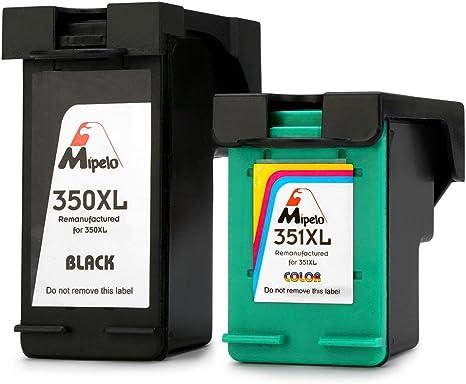 Mipelo Remanufacturado HP 350XL 351XL Cartuchos de tinta (1 Negro ...
