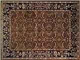 Istanbul Faith Aubergine/Blue Wool Rug (9'10 x 13'10)