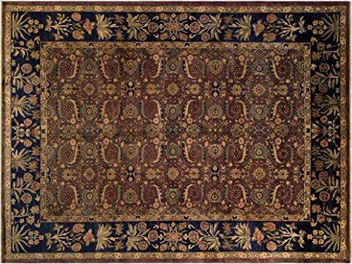 Istanbul Faith Aubergine/Blue Wool Rug (9'10 x 13'10) by Arshs