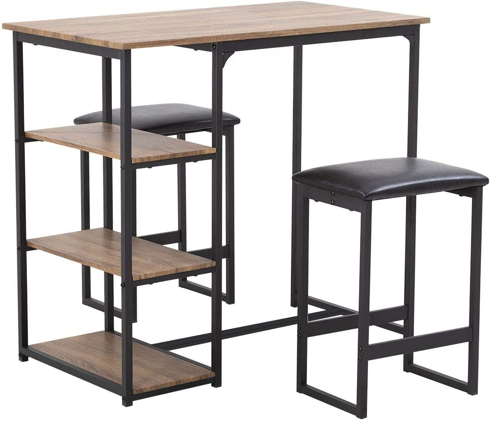 FDW Dining Table Set Dining Room Table Bar for Small Spaces Kitchen Table and Chairs Dining Table for 2 Home Furniture Rectangular Modern