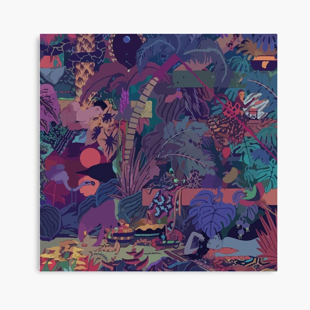 FloridahiStore Glass Animals // ZABA (16'' x 16'') Deluxe Square Canvas Wall Art Decoration Kitchen Office Decor by FloridahiStore