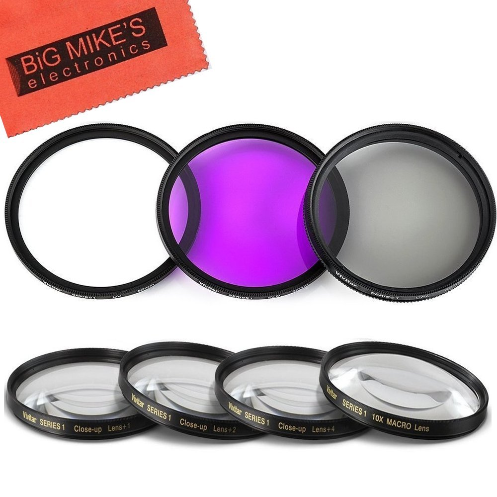 46mm Close-Up Filter Set (+1, 2, 4 and +10 Diopters) Magnification Kit for Panasonic Lumix DMC-G7 DSLM Mirrorless 4K Camera with 14-42mm Lens Kit Big Mike' s CU46