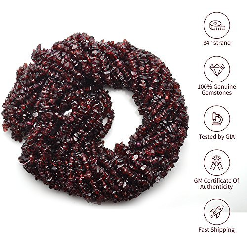 Natural Gemstone Chip Beads Free Form Shape, 1 Strand of 34