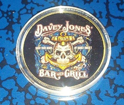 US Navy Davey Jones Bar & Grill Military Colorized Challenge Art (Davey Jones Bar)