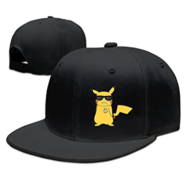 Mens Cartoon Pokemon Pikachu Swag Mood Flat Along Baseball Cap ...