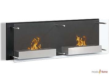 Amazon.com: Moda Flame Faro Wall Mounted Bio Ethanol Ventless ...