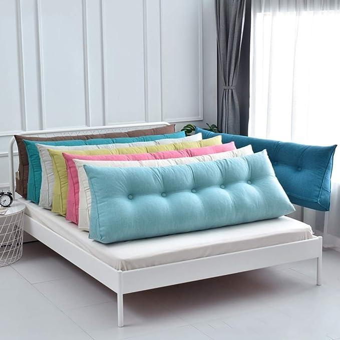 HUHD Respaldo Cojín Al Lado de la Cama Soporte Lumbar Alivia la Fatiga del sofá y la Cama, 5 Colores, Varios tamaños LEBAO (Color: Beige, tamaño: 70x50cm): Amazon.es: Hogar