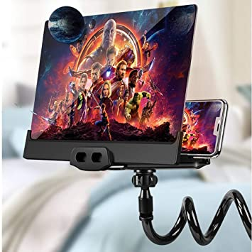 Mobile Phone Hd Projection Bracket 12in Screen Magnifier 3d Smart Mobile Phone Movies Amplifier With Lazy Bracket For Any Smartphone Screen Amplifier