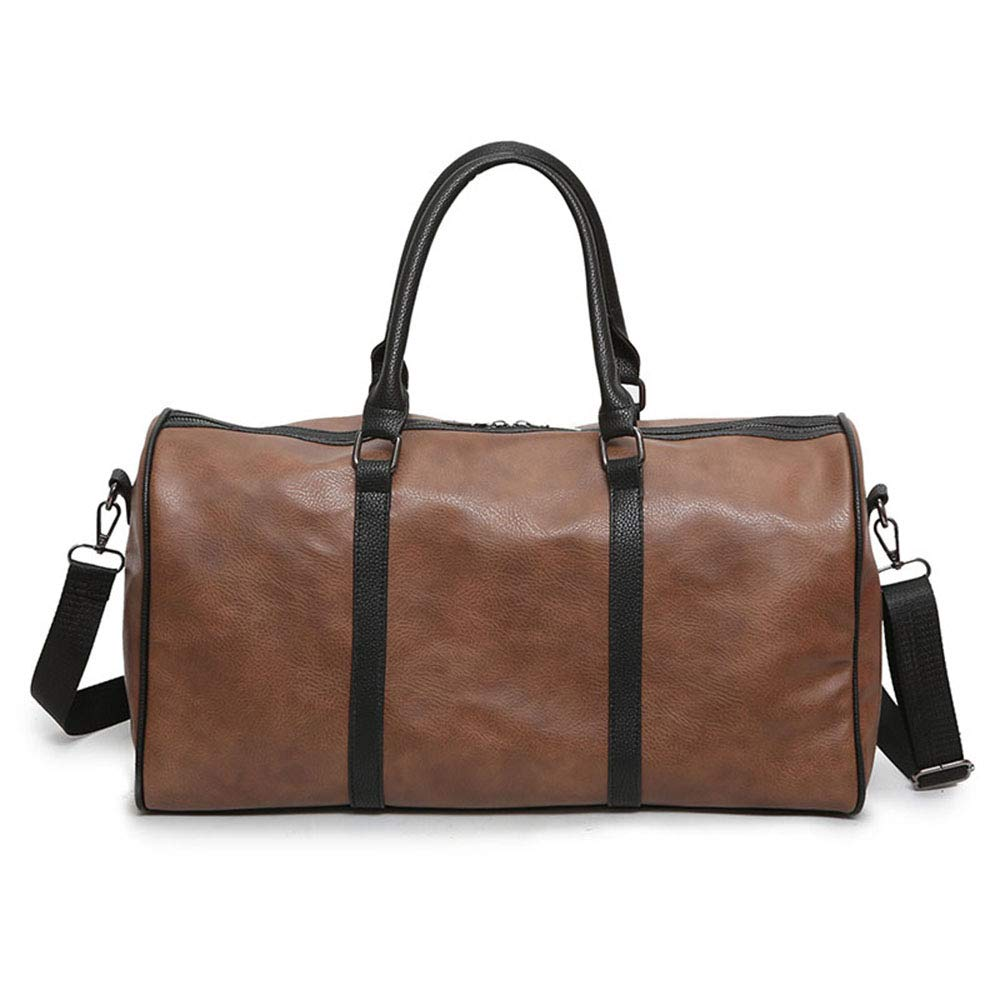 cfe856d1f794 Amazon.com: FLYSXP Pu Leather Travel Bag Men and Women Large ...