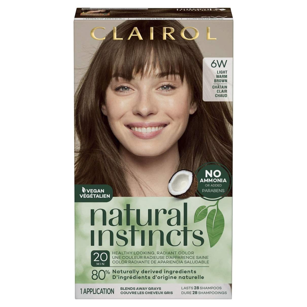 Clairol 3 Count 6w/13b Natural Instincts Hair Color $21.39 Coupon