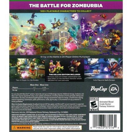 Plants Vs Zombies Garden Warfare 2 Deluxe Edition Xbox One Buy Online In Uae Video