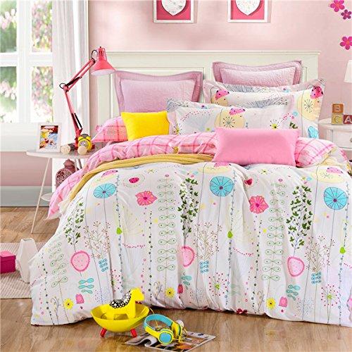 Kids Bedroom 100 Cotton Hello Kitty Queen Size Bedding Comforter Set  CASA 100% Cotton Kids Bedding Girl Duvet Cover Set & Flat sheet,4 ...