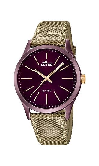 5e2c785a2a6d Lotus Reloj Analógico para Hombre de Cuarzo con Correa en Tela 18167 2   Amazon.es  Relojes