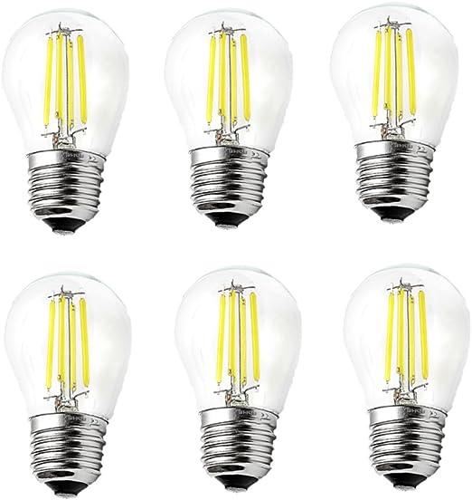 ougeer Pack de 6 LED E27 G45 bombilla de filamentos LED Retro ...