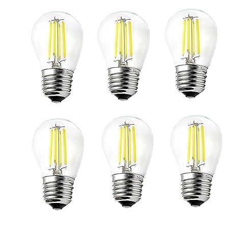 ougeer Pack de 6 LED E27 G45 bombilla de filamentos LED Retro bombillas de filamento 4