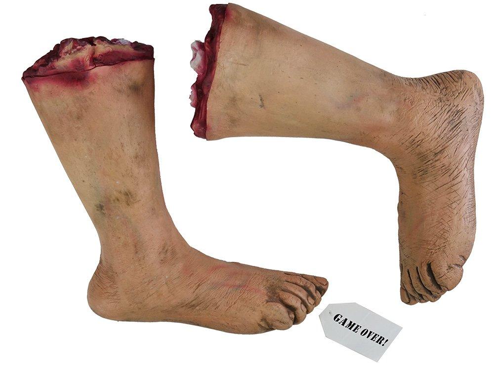 Leichenfüße Halloween lebensechte Horror Deko abgetrennte Füße Game ...