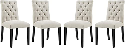 Modway Duchess Dining Chair Fabric Set of 4