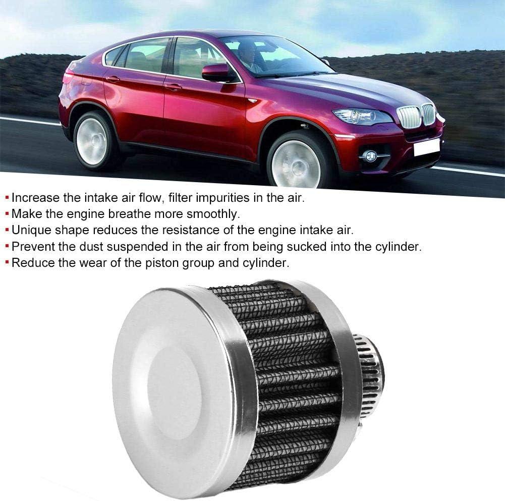Filtro de entrada de aire accesorio universal para coche Azul Ventilaci/ón del c/árter Mini filtro de entrada de aire de 25 mm//1 pulg