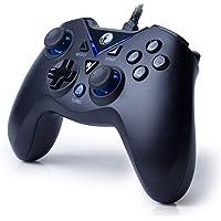 ZD IFYOO V-one 有线游戏控制器 USB 游戏机 PC(Windows XP/7/8/10)& Playstation 3 & Android & Steam V-one[Black&Blue]