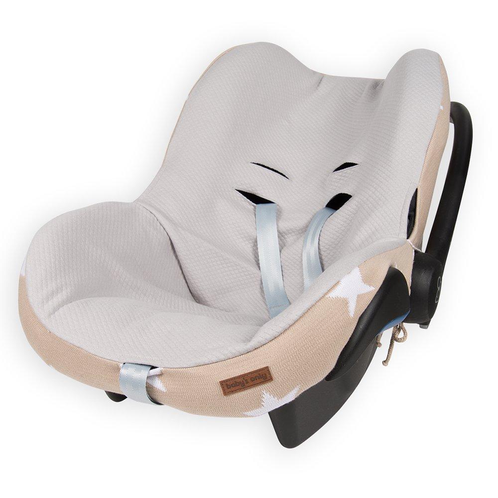 Baby's Only 915593 Bezug für Babyschale 0+ Stern Baby blau / grau Baby' s Only