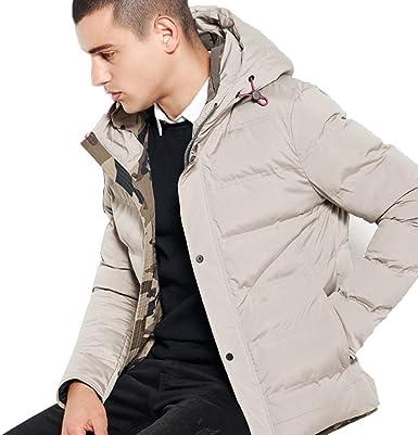 Qifengshop Ropa de algodón de invierno corta chaqueta de algodón de invierno para hombre tendencia de algodón grueso moda de invierno chaqueta abajo chaqueta de hombre cálida: Amazon.es: Ropa y accesorios