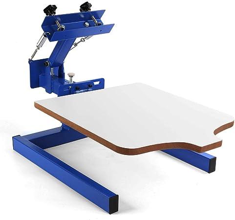 AU Manual 1 Color 1 Station Silk Screen Printing Machine 1-1 Press DIY T-Shirt