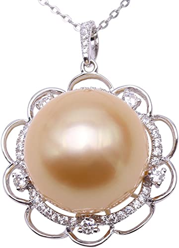 """Fashion Natural 8mm White South Sea Shell Pearl Drop Pendant Necklace 18/"""" AAA+"""