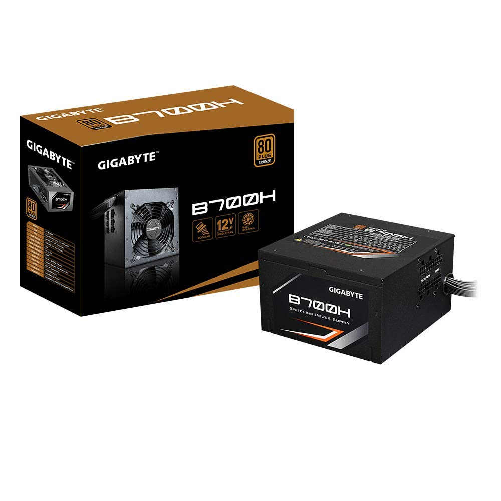 GIGABYTE B700H 80 Plus Bronze 700W, Modular, Smart Fan Function, Active Power Protection, 5 Year Warranty, Power Supply GP-B700H by Gigabyte