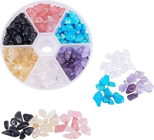 SUPVOX 1 Caja Abalorios de Piedras Preciosas Chip Cuentas de ...