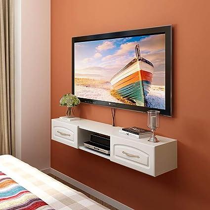 Beau Amazon.com: TV Wall Shelf Wall Mounted TV Wall Cabinet Floating Shelf  Multimedia Equipment Shelf TV Background Wall Decoration Shelf TV Stand  (Color ...