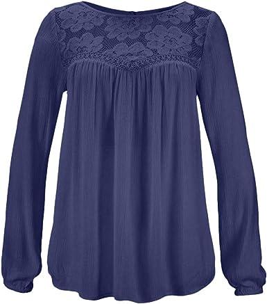 Luckycat Blusas Mujer Tallas Grandes Elegantes Primavera Casual ...
