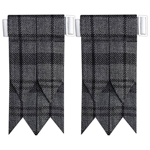 Scottish Hamilton Grey Tartan Flash Kilt Hose/Sock Flashes