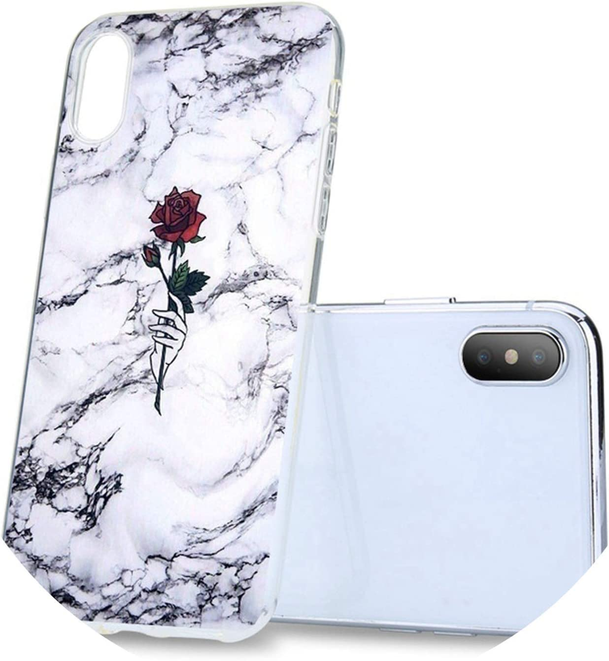Marble Phone Case for iPhone 5 5s Se X XS Max XR Rose Triangle Soft Coque Case for iPhone 6 6S 7 8 Plus TPU Back Covers,2,for iPhone 7 8