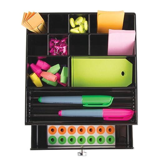 Amazon.com: InterDesign Clarity organizador maquillaje | Joyero con 11 compartimentos y cajones | Ideal como organizador de collares, pulseras, anillos, ...